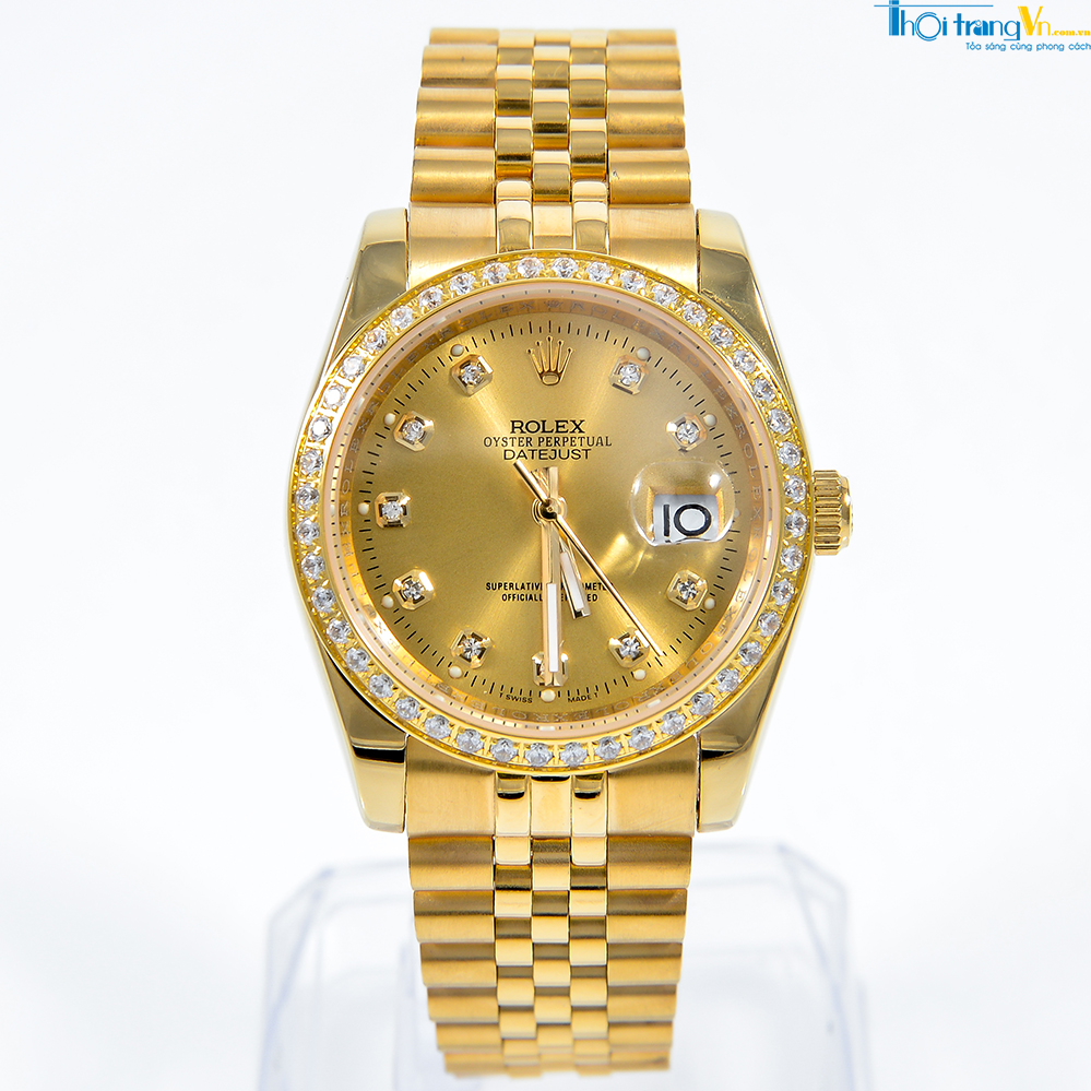 Đồng hồ nữ cao cấp Rolex Oyster Full Gold RL05